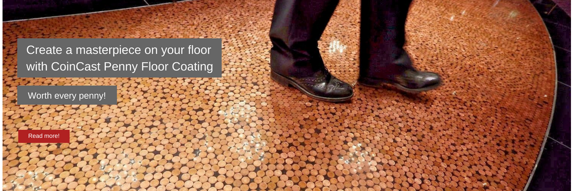 Coin Cast penny floor coating