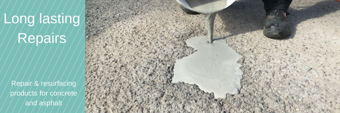 Repair products for concrete and asphalt
