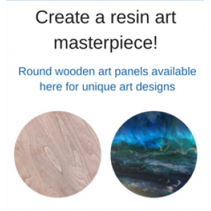 Round wooden art boards