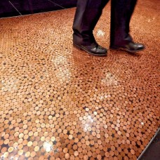 Coin Cast Penny Floor Resin