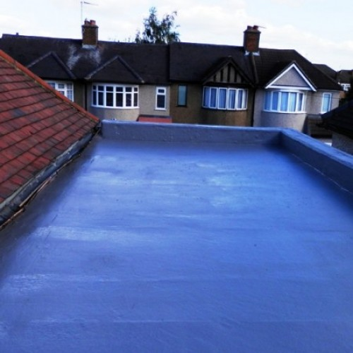Swimming pool paint fixmaster for Flat roof waterproofing paint