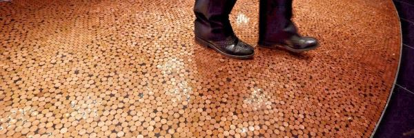 Coin Cast Penny Floor Coating at the London Hippodrome